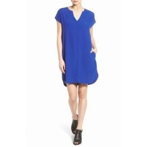 Madewell Du Jour Tunic Dress Alpha Blue XS